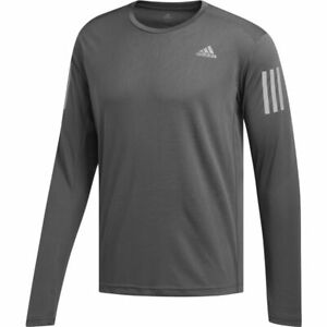 Running Top Mens Adidas Own The Run Fitness Gym T-Shirt Long Sleeve Grey Eco