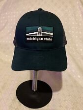 Vintage Michigan State Police Snapback Trucker Hat Mesh Embroidered Adjustable