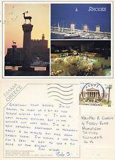 1993 Multi Views Of Rhodes Greece Colour Postcard