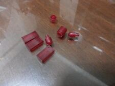 Non-Lego LOT of Bricks - Clear / Translucent Red Color 6 pieces - Check Below