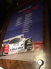 Official PORSCHE 1992 Porsche Cup POSTER Road Racing Touring Sports cars