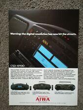 Vintage AIWA Advert DIGITAL CAR STEREO 1990'S  Original Vintage Tech Magazine Ad