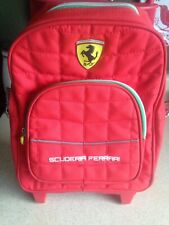 Genuine Ferrari Scuderia Carry On Book Carrier Luggage On Wheels