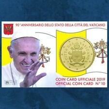 Vatikan - Coincard - 50 Cent 2019 BU - Wappen - Coin Card Nr. 10