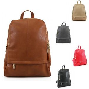 Unisex Synthetic Leather S-Medium New Season Boutique thin Classic Backpack UK