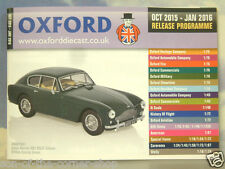 Oxford Diecast 48 página Bolsillo Catálogo de octubre de 2015 a enero de 2016 programa