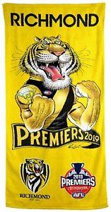 Richmond Tigers 2019 Mark Knight Premiers Caricature Beach Towel | AFL Football