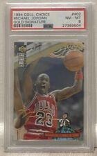 1994 Collector's Choice #402 - Michael Jordan Gold Signature - PSA 8 - NM-MT