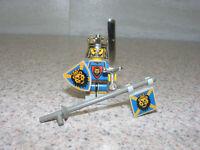 LEGO Knights Kingdom King Leo Minifigure Lion Shield Gold Helmet Flag Sword  I 1