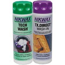 Nikwax Set 2 x 300 Ml Tech Wash + TX. Direct impägnierung ARTICLE NEUF!!!