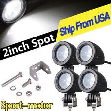4X 10W 2inch Spot LED Light Pods Driving Fog For BWM Yamaha Motorcycle Bike ATV
