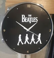 THE BEATLES Abbey Road Drum Clock UPCYCLED*