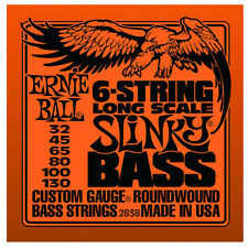 Ernie Ball 2838 6 String Slinky Electric Bass Strings