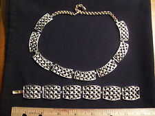 Sarah Coventry Necklace and Bracelet Set Cosmopolitan Basket Weave