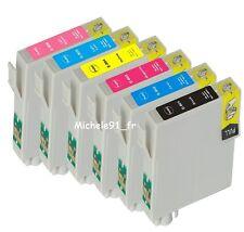 1+5 Cartouches non-OEM pour EPS PHOTO RX685 T0801-T0802-T0803-T0804-T0805-T0806