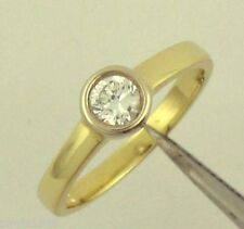 1/4CT SOLITAIRE ENGAGEMENT RING 14K TWO TONE GOLD BEZEL