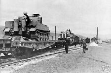WW2 Photo WWII German Tiger I Tanks on Train Tiger22 World War Two Wehrmacht