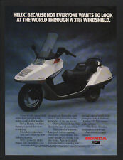 1986 HONDA HELIX Scooter - Motorcycle - VINTAGE ADVERTISEMENT