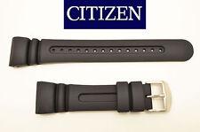 Citizen Aqualand original watch band BLACK rubber strap  JV0030-01E  JV0020-12F