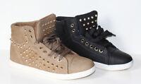 Trendy Sneaker Turnschuhe Boots mit Nieten Farbauswahl Gr.36-41 (B8342)
