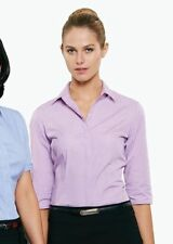 Check 3/4 Sleeve Machine Washable Regular Tops & Blouses for Women