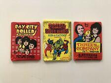 1975 TOPPS BAY CITY ROLLERS 1980 MARVEL TATTOO THREES COMPANY WAX PACKS * NO BOX