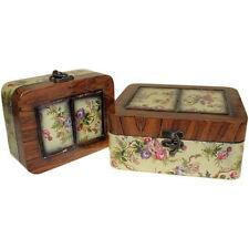 Set of 2 Victorian Style Keepsake Boxes - Trinket Box with Decoupage Design