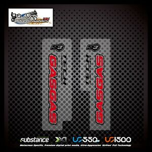 Gas Gas TXT 12-15 Tech Lower Fork Red On Clear Decal Sticker Trials (624)