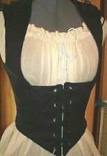 New listing 1 Point Bodice Black Cotton Choice of One