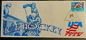 VINTAGE USA 1992 Olympic Winter Games Commemorative Souvenir Stamped envelope