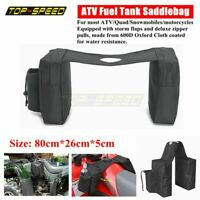 ATV UTV Quad Fuel Tank Saddlebag Cargo Pouch Storage Bags Gas Tank Saddle Bags