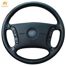 Black Leather Steering Wheel Cover Wrap for BMW E46 318i 325i E39 E53 X5