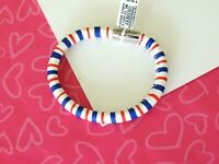 Brighton Woodstock Patriotic Red White Blue Bracelet ML New tags $40