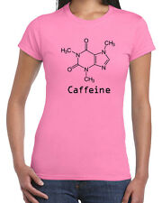 056 Caffeine womens t-shirt funny coffee lover soda pop vintage retro cool party