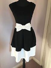 Bow Skater Black And Cream Dress