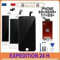 ECRAN LCD VITRE TACTILE SUR CHÂSSIS POUR IPHONE 6 6S 7 8 PLUS Noir Blanc + OUTIL