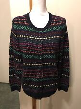 TALBOTS X 12-14 Lambswool Cardigan Sweater