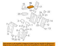 AUDI OEM 09-13 A3 Rear Seat-Armrest 8P0885081FN23