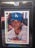 1991 UPPER DECK #2F PEDRO MARTINEZ ROOKIE CARD RC DODGERS RED SOX HOF