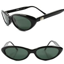 Genuine Vintage Deadstock 80s Fashion Black Rockabilly Small Cat Eye Sunglasses