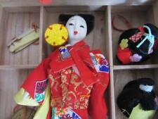 Vintage KATSURANINGYO Doll in Box with 3 Wigs + Fan & Hat - Gisha Doll Japan