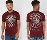AMERICAN FIGHTER Men T-Shirt BIRCHWOOD Athletic RUSTED RED Biker Gym MMA $40