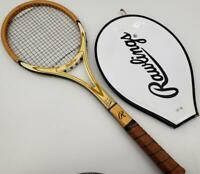 Antique Rawlings Wood Tennis Racquet Brian Fairlie Autograph