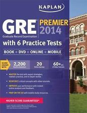 Kaplan GRE Premier 2014 with 6 Practice Tests: book + online + DVD + mobile, Kap