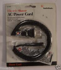 NEW RADIO SHACK UNIVERSAL ELECTRIC SHAVER AC POWER CORD MODEL 61-2881