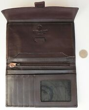 Nappa leather soft wallet 1642 by Lichfield Leather dark brown credit card purse