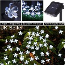 Bright White 50 LED Solar Powered Flower Fairy String Decor Light Garden Outdoor