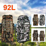 92L Men Outdoor Military Tactical Bag Camping Hiking Trekking Backpack Rucksack