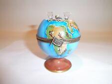 Peint Main Limoges Trinket Box- The World Celebrates A New Millennium
