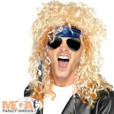 80 S Heavy Metal Rocker perruque, lunettes & Bandana Kit adultes Costume Robe Fantaisie Set